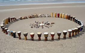 drums on beach