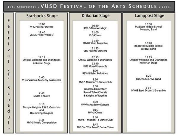 vusd art schedule