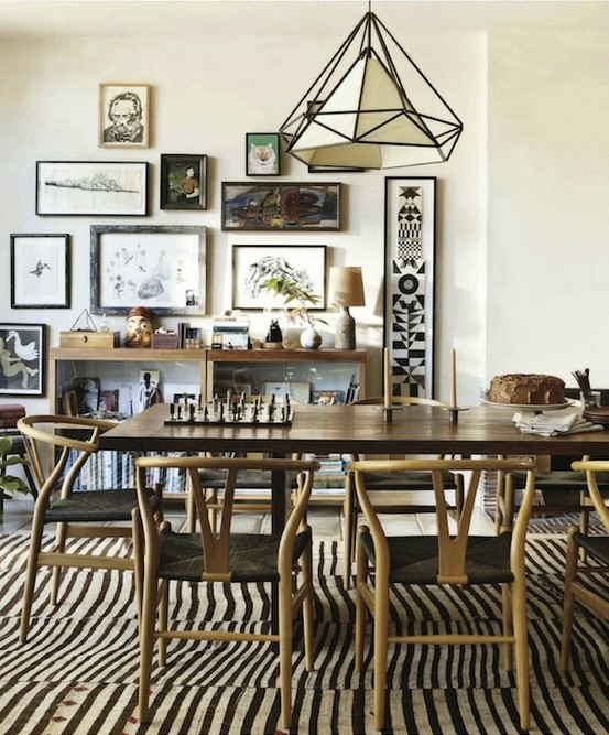 zebra-print-dining-room-rug house beautiful