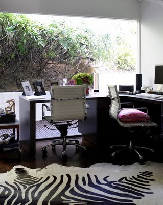 zebra rug rachel-zoes-house-office